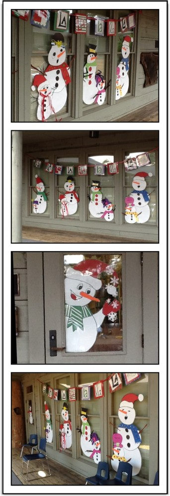 Music Classroom Door Decorations ~ Snowman music door decorations just a little more