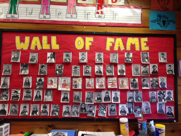 Recorder Wall of Fame bulletin board