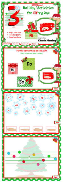 3 SMARTBoard musical activities for Elf-ry one